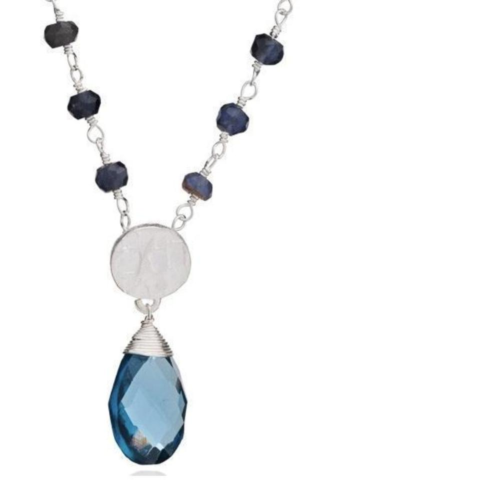 Necklace Azuni silver iolite athena brio necklace