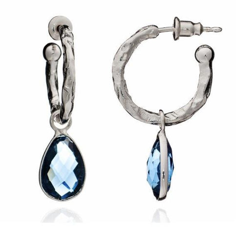 Earrings Azuni Silver iolite marina hoop earrings