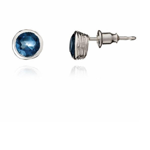 Earrings Azuni Silver round iolite Iona stud earrings