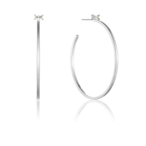 Ania Haie Silver CZ glow hoop earrings