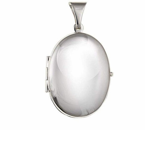 Silver large oval locket