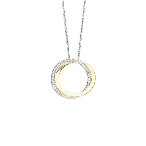Buchwald Pendant Buchwald white and rose gold diamond double hoop pendant