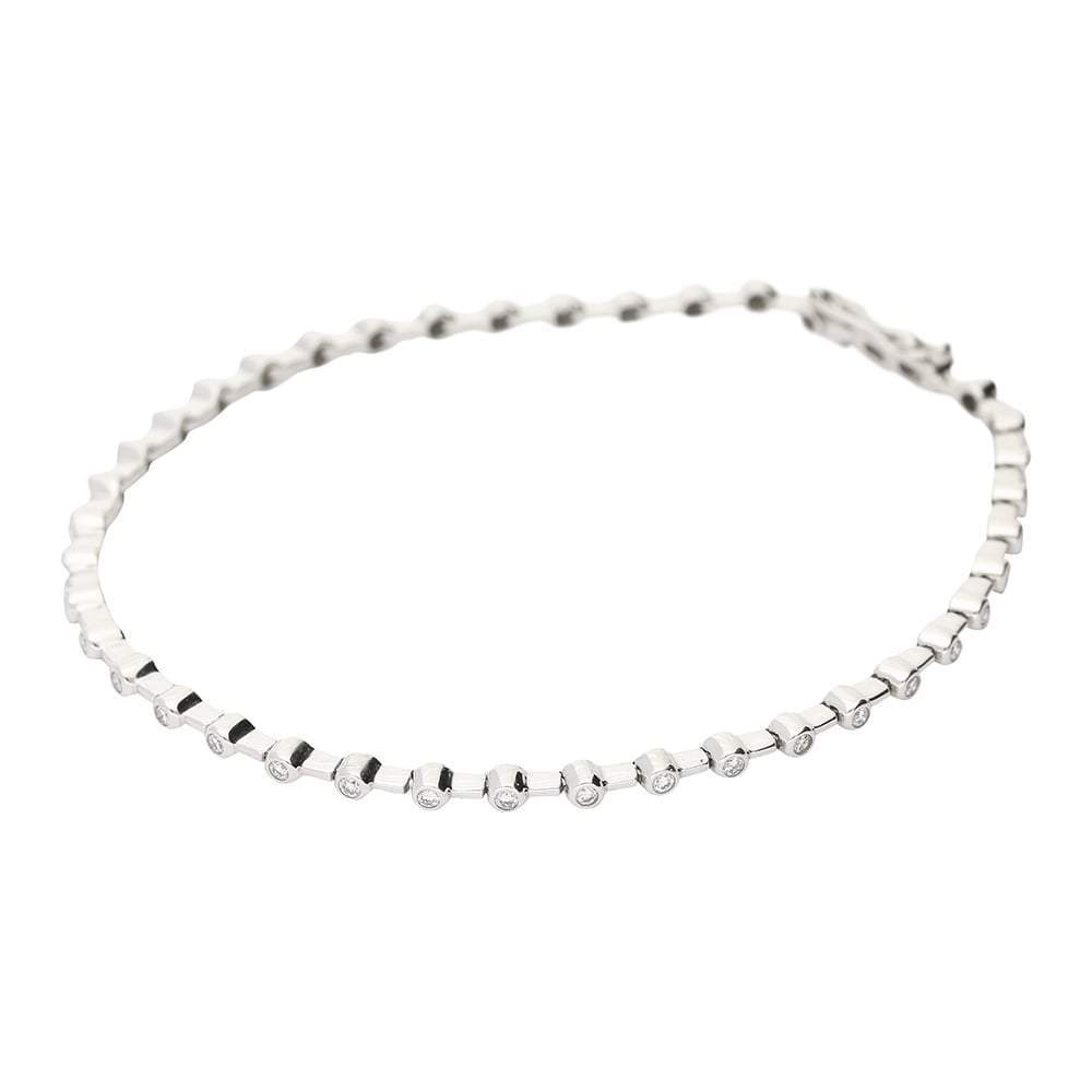 Buchwald Bracelet Buchwald white gold tennis bracelet with 56 diamonds