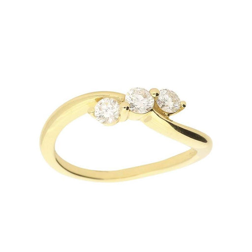 Buchwald Ring Buchwald yellow gold diamond trilogy ring