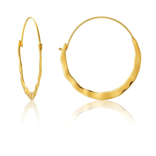 Ania Haie Gold crush hoop earrings