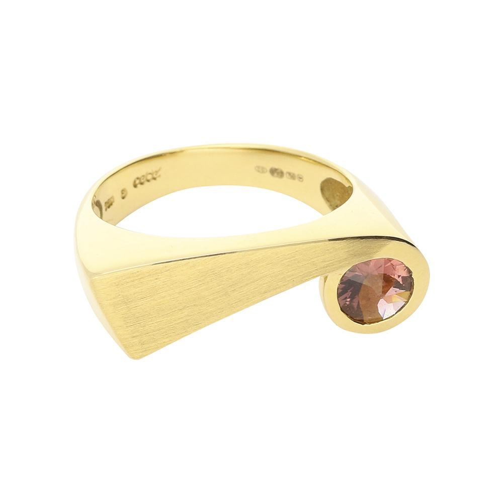 Cede Ring Cede 14ct gold pink rubelite ring