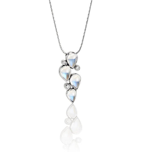 Christopher Wharton Pendant Wharton 18ct white gold moonstone and diamond pendant