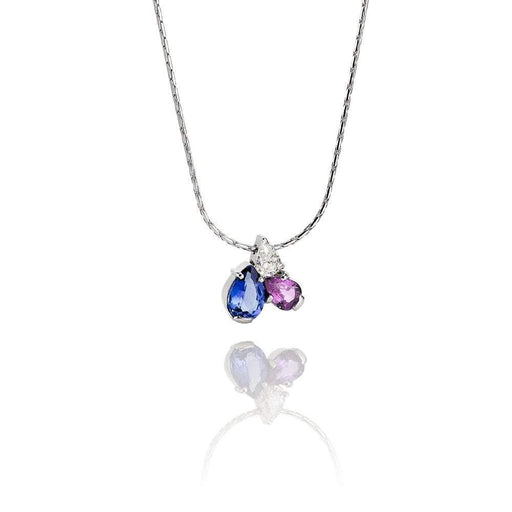 Christopher Wharton Pendant Wharton 18ct white gold Tanzanite,pink Sapphire,Diamond pendant
