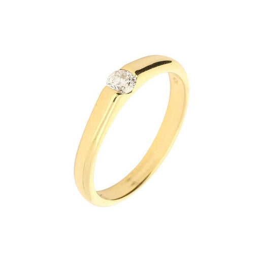 Christopher Wharton Ring Wharton gold brilliant cut diamond ring