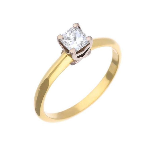 Christopher Wharton Ring Wharton Gold princess diamond ring