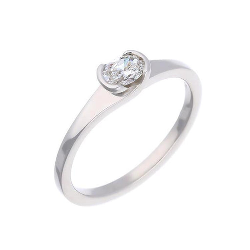 Christopher Wharton Ring Wharton platinum 0.25ct oval diamond ring