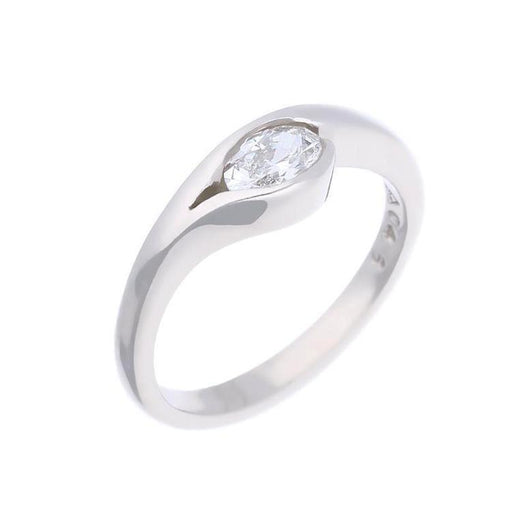 Christopher Wharton Ring Wharton platinum 0.46ct oval diamond ring