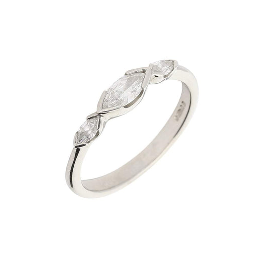 Christopher Wharton Ring Wharton Platinum diamond marquise trilogy ring