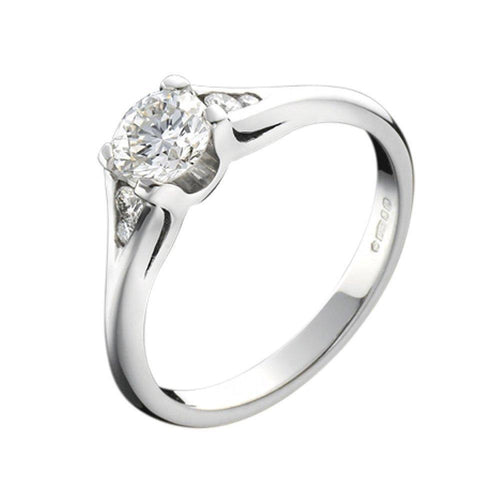 Christopher Wharton Ring Wharton Platinum four claw diamond ring