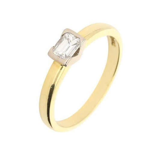 Christopher Wharton Ring Wharton Platinum Gold emerald cut diamond ring