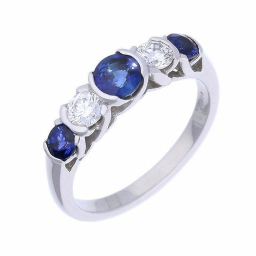 Christopher Wharton Ring Wharton Platinum Sapphire and diamond five stone ring