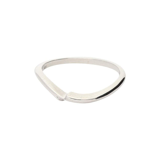 Christopher Wharton Ring Wharton Platinum shaped wedding band