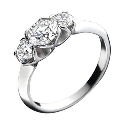 Christopher Wharton Ring Wharton Platinum trilogy Diamond ring