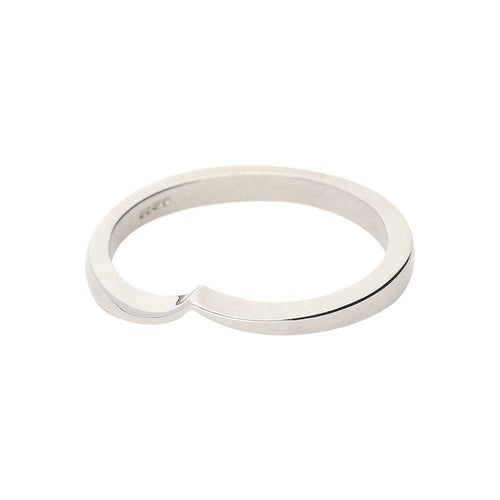 Christopher Wharton Ring Wharton Platinum v shaped wedding band