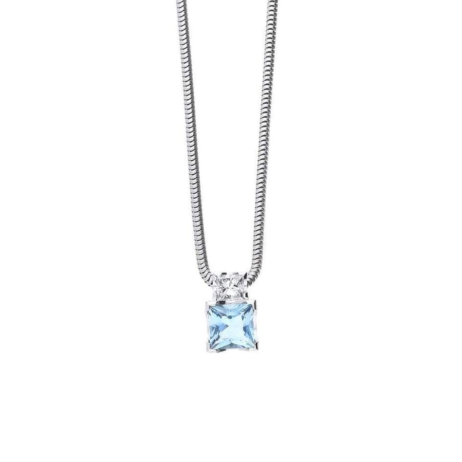 Christopher Wharton Pendant Wharton white gold and aquamarine and diamond pendant