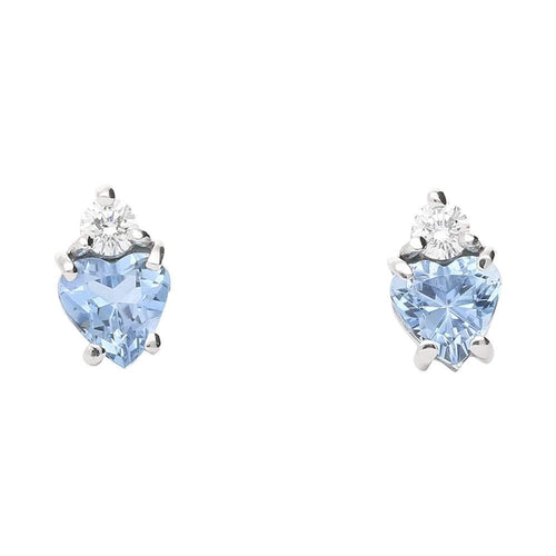 Christopher Wharton Earrings Wharton white gold aquamarine and diamond stud earrings