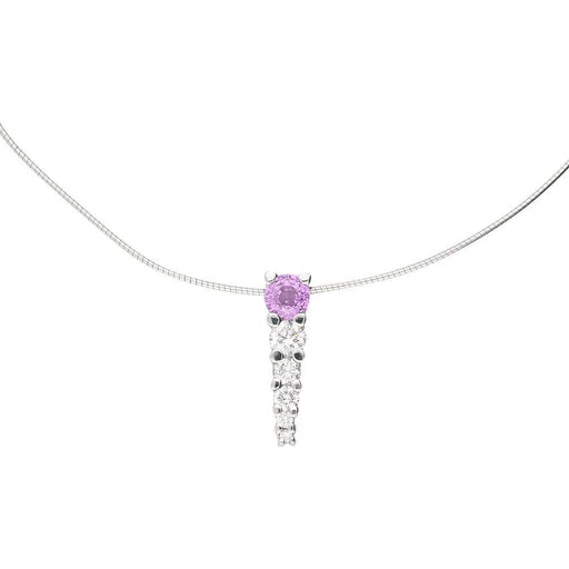 Christopher Wharton Pendant Wharton white gold pink sapphire and diamond bar pendant