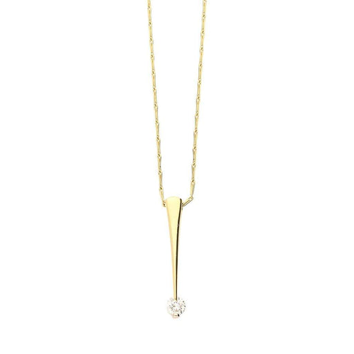 Christopher Wharton Pendant Wharton yellow gold diamond bar pendant