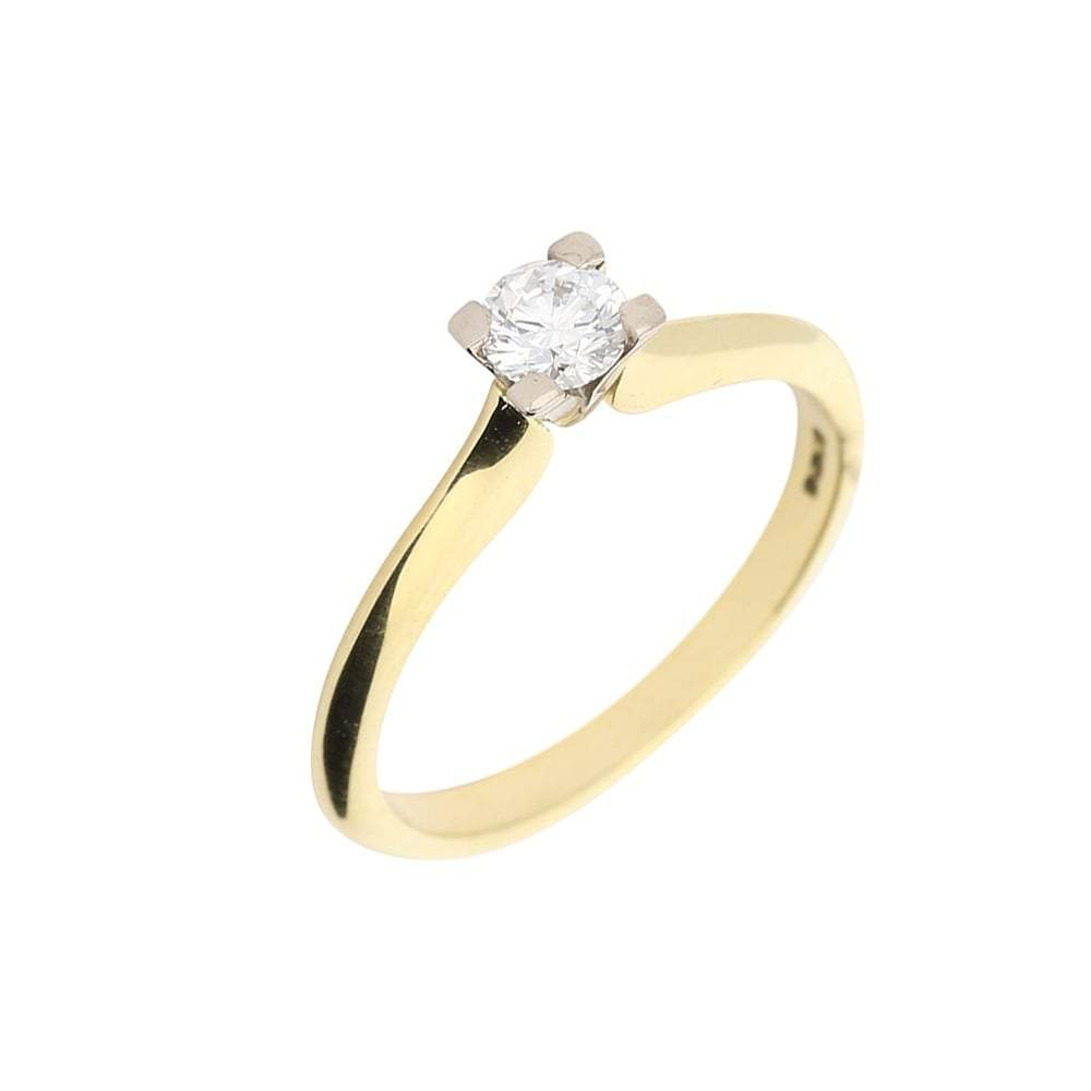 Christopher Wharton Ring White and yellow gold brilliant cut 0.27ct diamond ring
