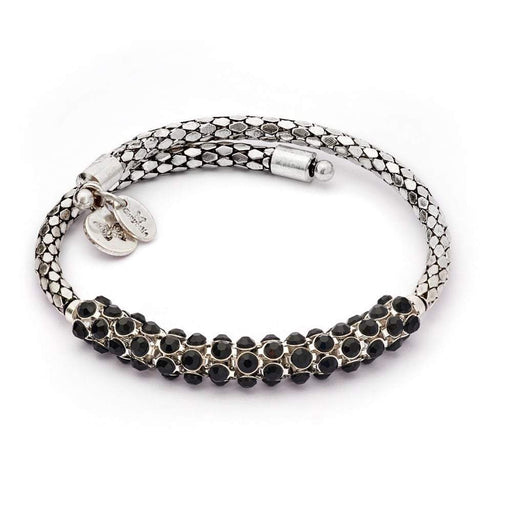 Chrysalis Bangle Chrysalis Silver black spontaneity bohemia bangle