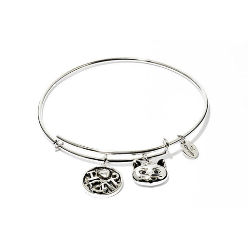 Chrysalis Bangle Chrysalis Silver I love cat expandable bangle