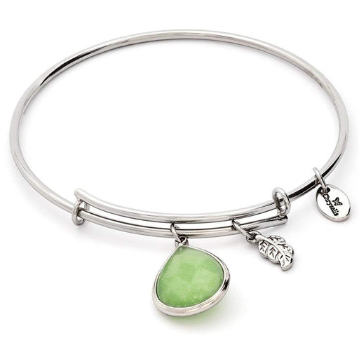 Chrysalis Bangle Chrysalis Silver peridot jade August lunar bangle