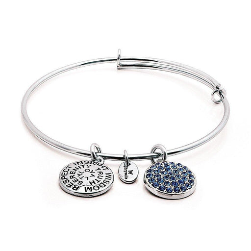 Chrysalis Bangle Chrysalis Silver sapphire crystal September bangle  CRBT0109SP