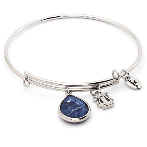 Chrysalis Bangle Chrysalis Silver sapphire sodalite September lunar bangle