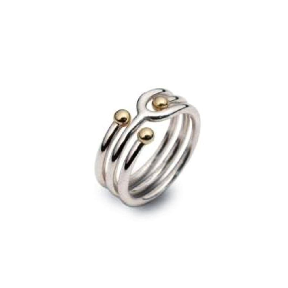 Church House Ring Church House bead triple band ring