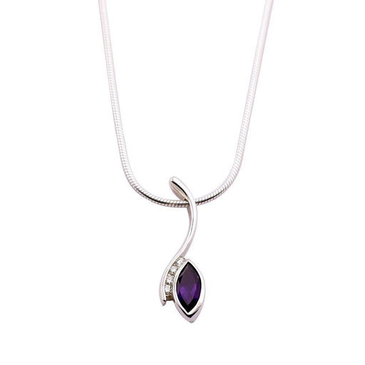 Church House Pendant Church house Silver Amethyst diamond marquise pendant