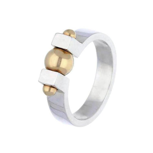 Church House Ring Church House Silver gold bead bolt ring