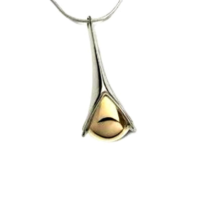 Church House Pendant Church House Silver gold bud pendant