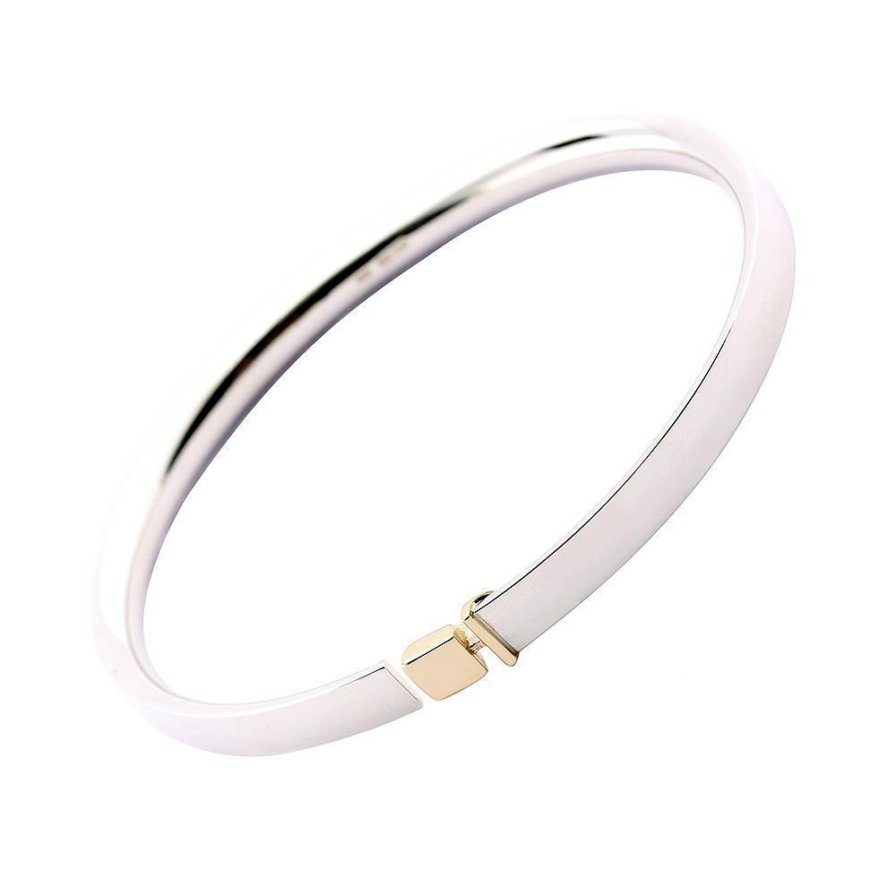 Church House Bangle Church House Silver gold square detail bangle