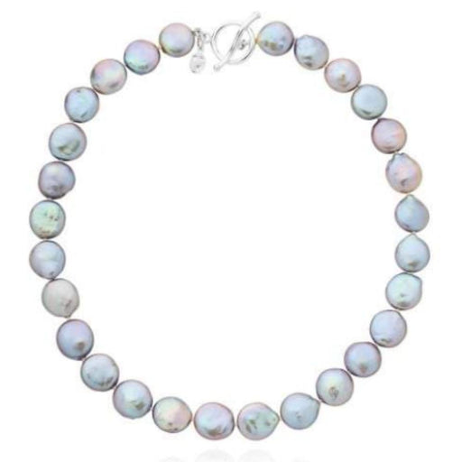 Claudia Bradby Necklace Claudia bradby silver and grey coin pearl bedruthan necklace