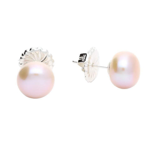 Claudia Bradby Earrings Claudia Bradby Silver and pink 10mm pearl stud earrings