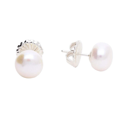 Claudia Bradby Earrings Claudia Bradby Silver and white 10mm pearl stud earrings