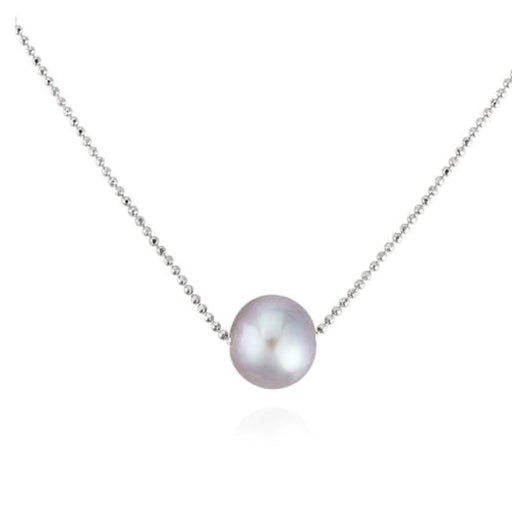 Claudia Bradby Neckwear Claudia Bradby Silver simple grey pearl necklace