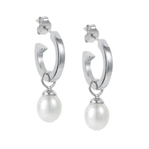 Claudia Bradby Earrings Claudia bradby silver white pearl biography hoop earrings