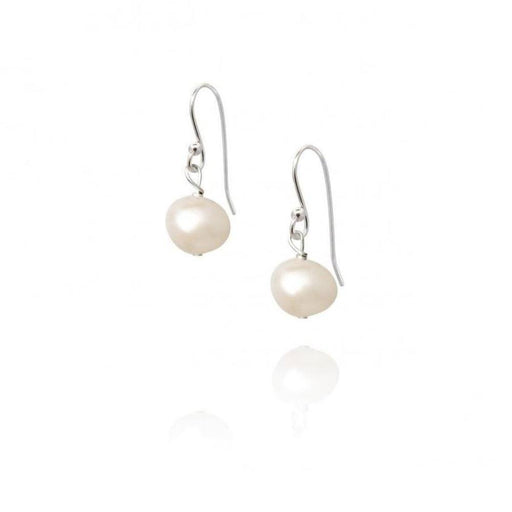 Claudia Bradby Earrings Claudia bradby silver white pearl essential hook earrings