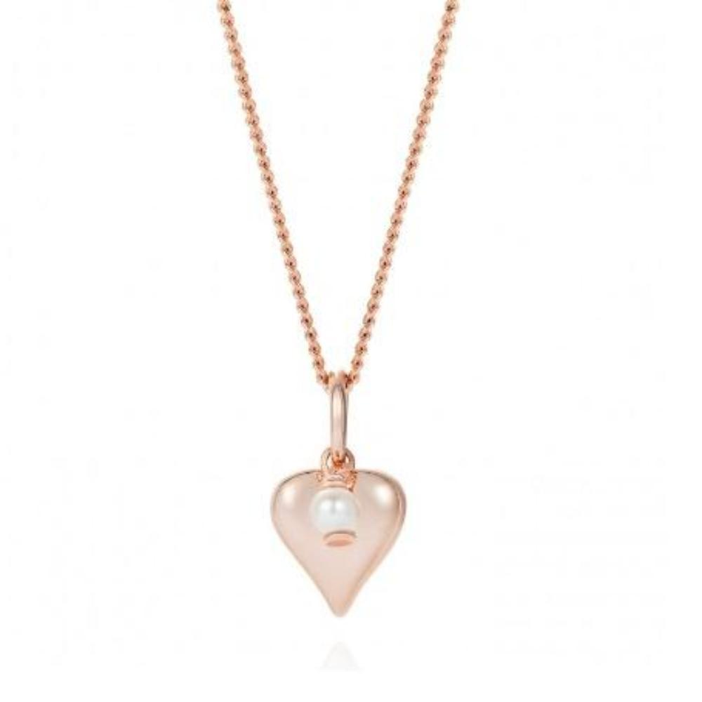 Pendant Claudia bradby rose gold and white pearl signature heart pendant