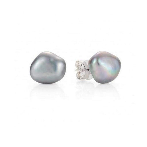 Earrings Claudia Bradby Silver grey pearl couture stud earrings