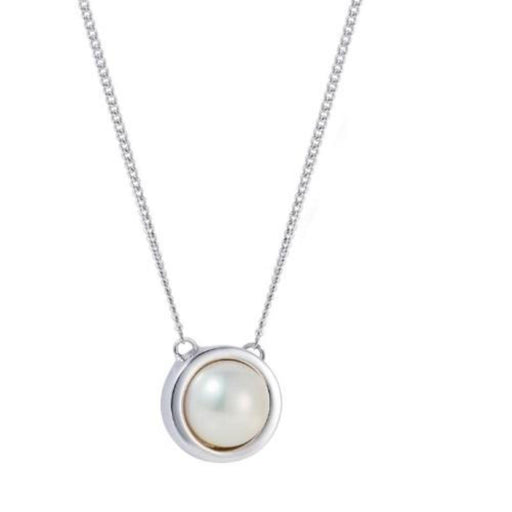 Necklace Claudia bradby Silver white pearl signet necklace