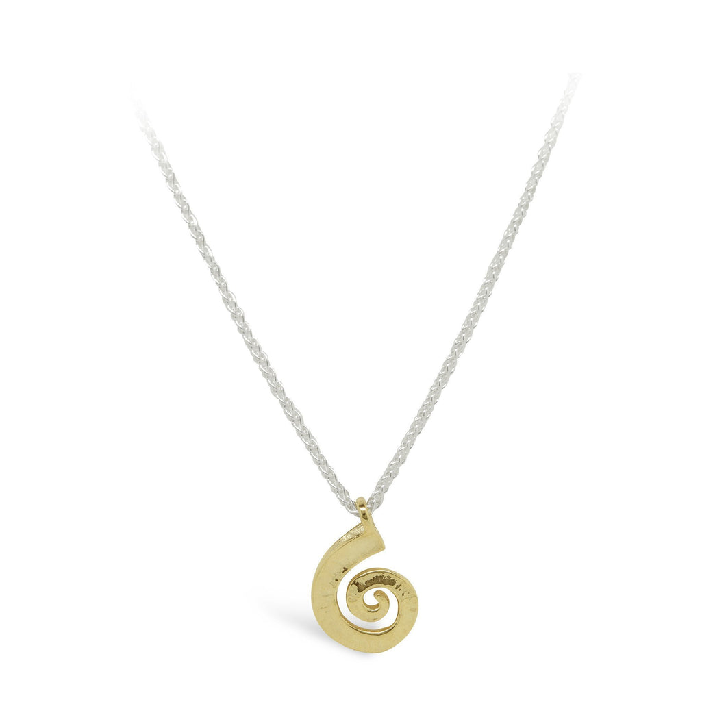 Pendant Collette Waudby 9ct gold spiral dreki medium pendant