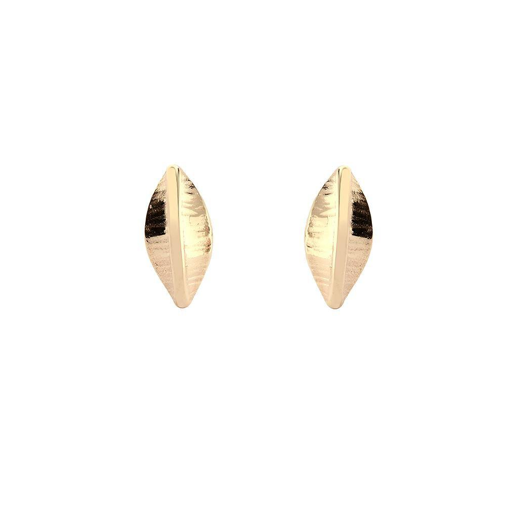 Collette Waudby Earrings Collette Waudby 9ct gold botanica tiny elipse stud earrings