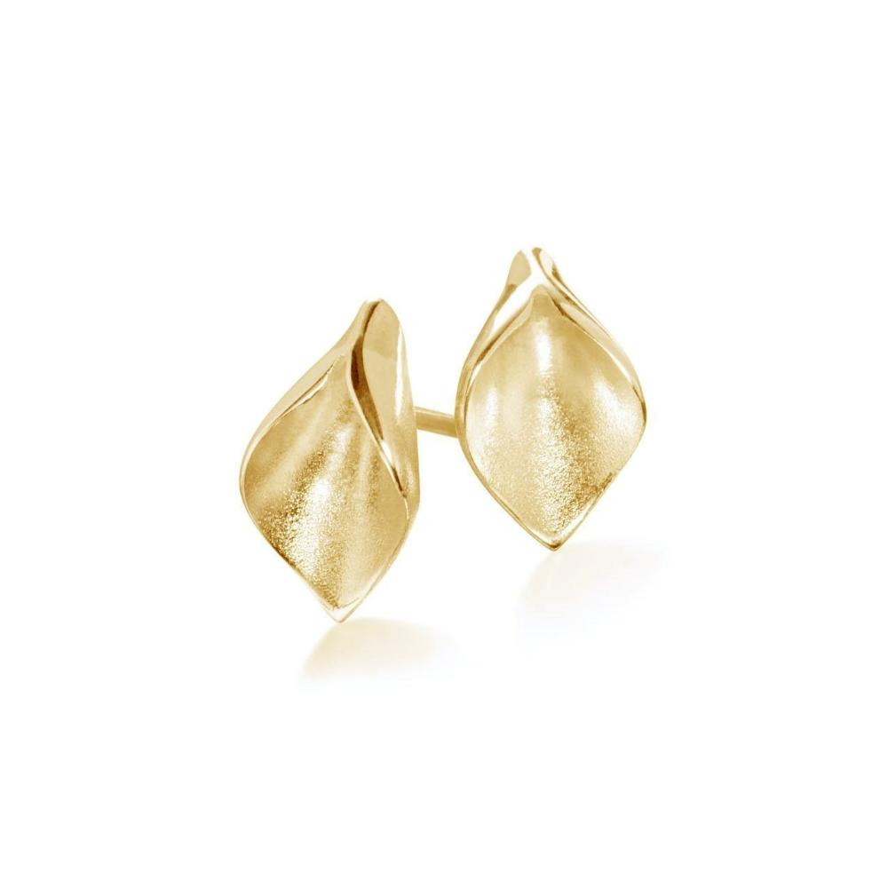Collette Waudby Earrings Collette Waudby gold calla lilly stud earrings